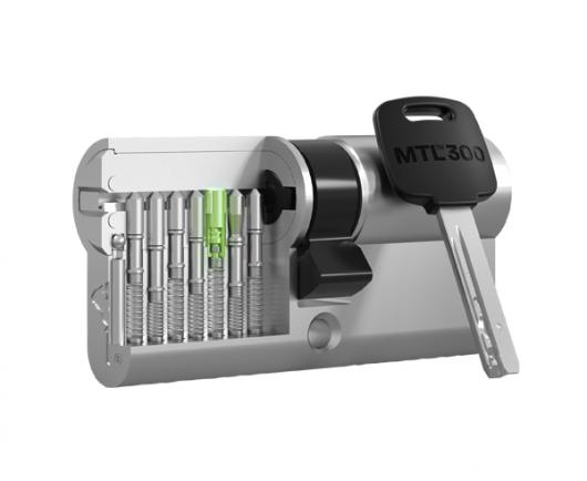 Bezpečnostná cylindrická vložka Mul-T-Lock MTL300 v reze s kľúčom