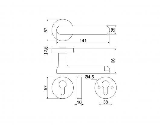 SMART dverná kľučka s čítačkou odtlačku prsta