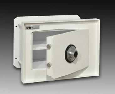 Malý stenový trezor Safetronics s kombinačným zámkom