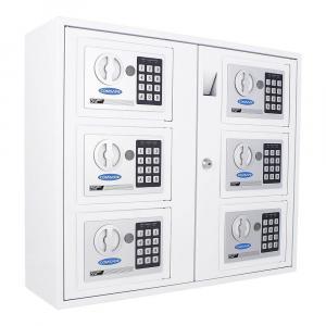 Zostava 6 kusov elektronických sejfov Rottner Key System 6