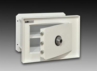 Malý stenový trezor Safetronics ST20 otvorený